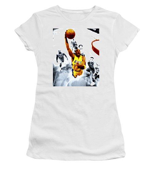 Kobe Bryant Took Flight Women's T-Shirt (Junior Cut) by Brian Reaves