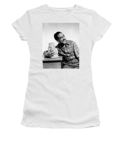 Langston Hughes (1902-1967) Women's T-Shirt (Junior Cut) by Granger