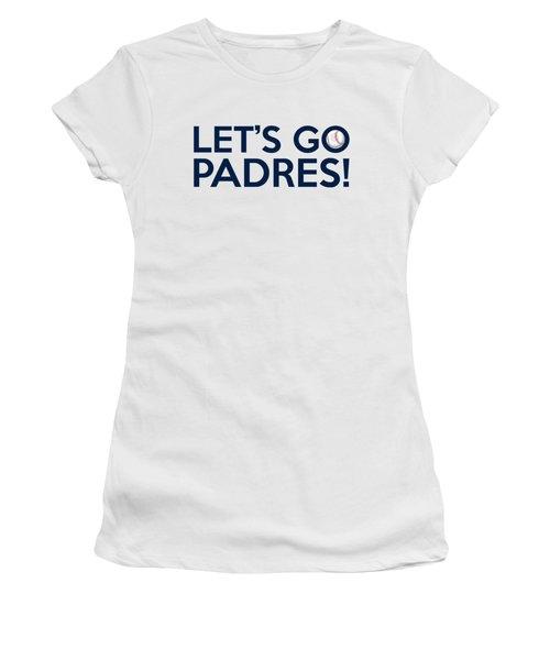 Let's Go Padres Women's T-Shirt (Junior Cut) by Florian Rodarte