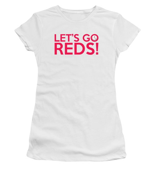 Let's Go Reds Women's T-Shirt (Junior Cut) by Florian Rodarte