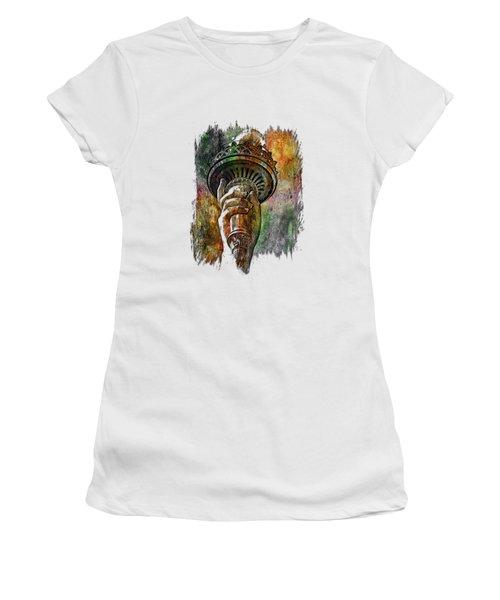 Light The Path Muted Rainbow 3 Dimensional Women's T-Shirt (Junior Cut) by Di Designs