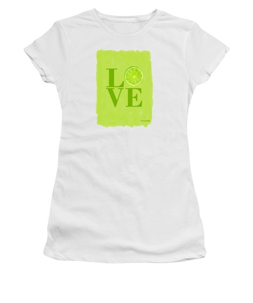 Lime Women's T-Shirt (Junior Cut) by Mark Rogan