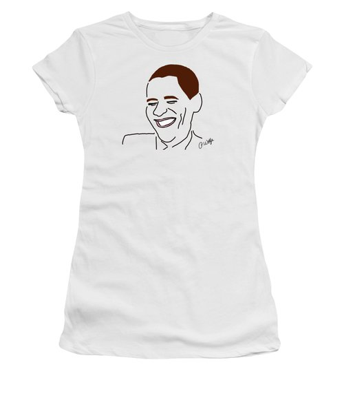 Line Art Man Women's T-Shirt (Junior Cut) by Priscilla Wolfe