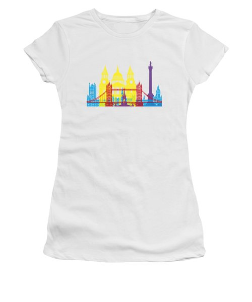 London Skyline Pop Women's T-Shirt (Junior Cut) by Pablo Romero