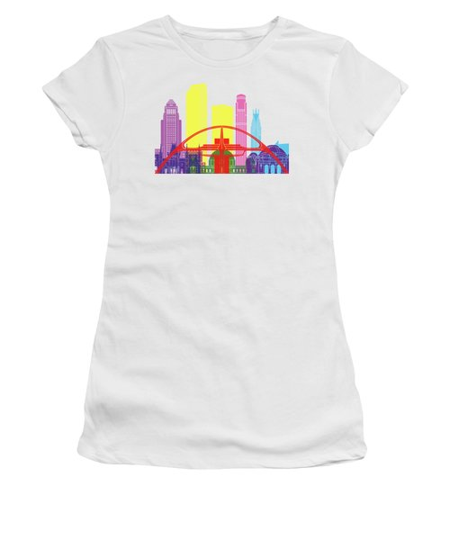Los Angeles Skyline Pop Women's T-Shirt (Junior Cut) by Pablo Romero