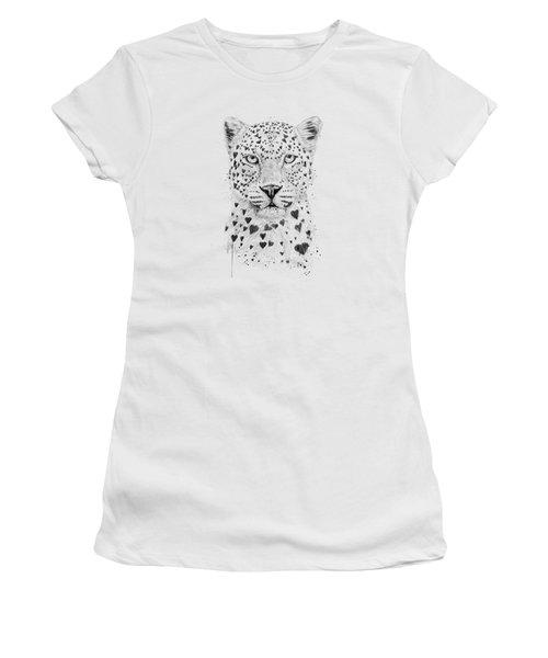 Lovely Leopard Women's T-Shirt (Junior Cut) by Balazs Solti