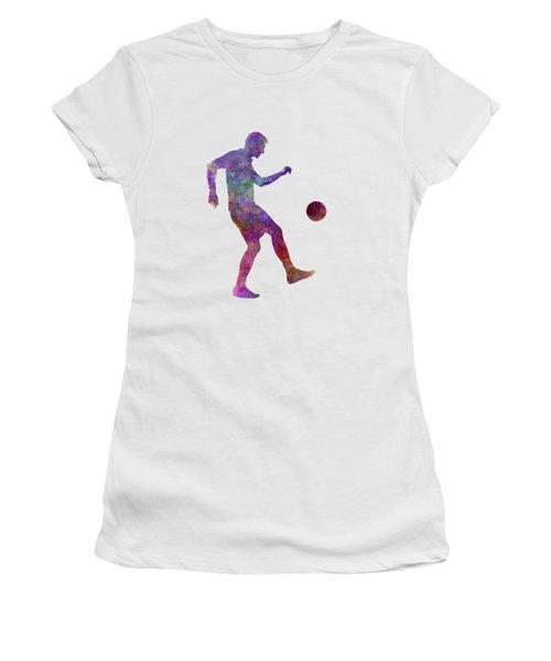 Man Soccer Football Player 04 Women's T-Shirt (Junior Cut) by Pablo Romero