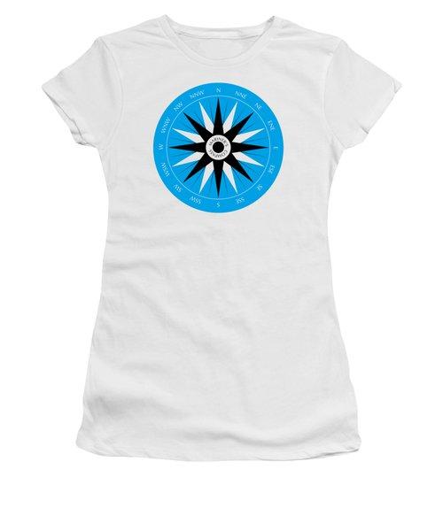 Mariner's Compass Women's T-Shirt (Junior Cut) by Frank Tschakert