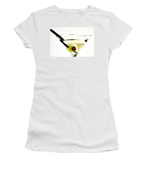 Martini With Green Olive Women's T-Shirt (Junior Cut) by Sharon Cummings