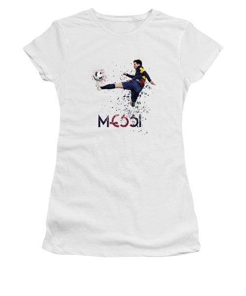 Messi Women's T-Shirt (Junior Cut) by Armaan Sandhu