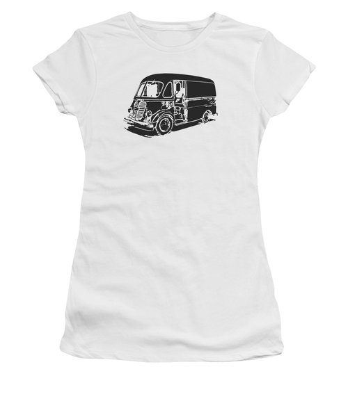 Metro Step Van Tee Women's T-Shirt (Junior Cut) by Edward Fielding