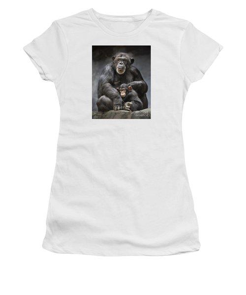 Mom And Baby Women's T-Shirt (Junior Cut) by Jamie Pham
