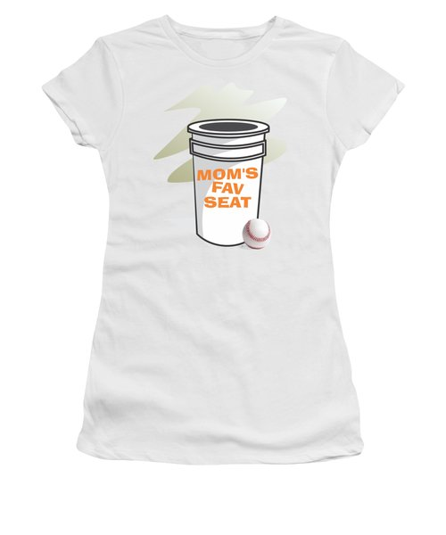 Mom's Favorite Seat Women's T-Shirt (Junior Cut) by Jerry Watkins