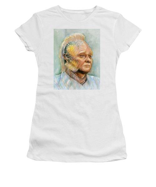 Neelix Star Trek Voyager Watercolor Women's T-Shirt (Junior Cut) by Olga Shvartsur