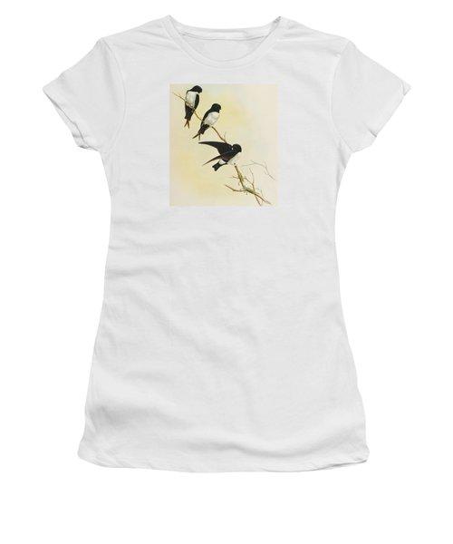 Nepal House Martin Women's T-Shirt (Junior Cut) by John Gould