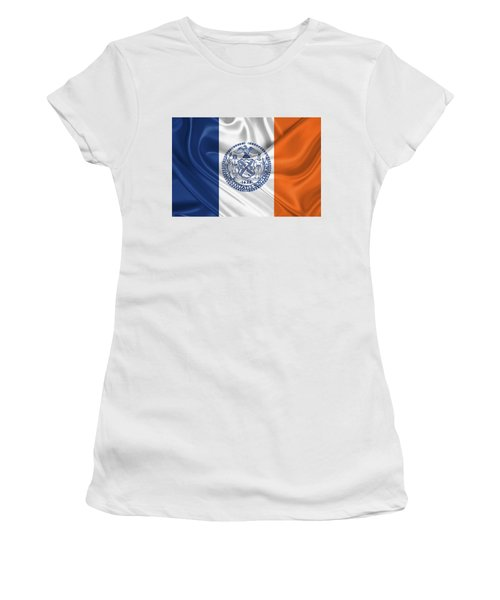 New York City - Nyc Flag Women's T-Shirt (Junior Cut) by Serge Averbukh