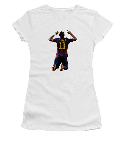 Neymar Women's T-Shirt (Junior Cut) by Armaan Sandhu