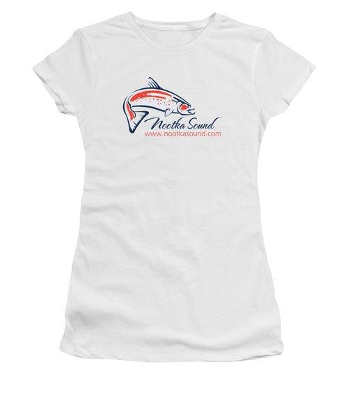 Ns Logo #4 Women's T-Shirt (Junior Cut) by Nootka Sound