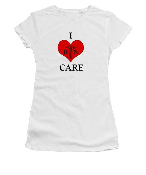 Nursing I Care -  Red Women's T-Shirt (Junior Cut) by Mark Kiver