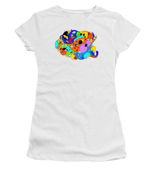 Ocean Life Women's T-Shirt (Junior Cut) by Sally Bosenburg