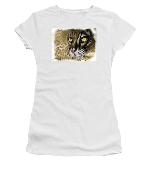 Ocelot Women's T-Shirt (Junior Cut) by Darren Cannell