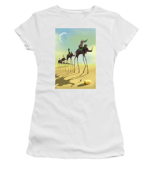 On The Move 2 Women's T-Shirt (Junior Cut) by Mike McGlothlen