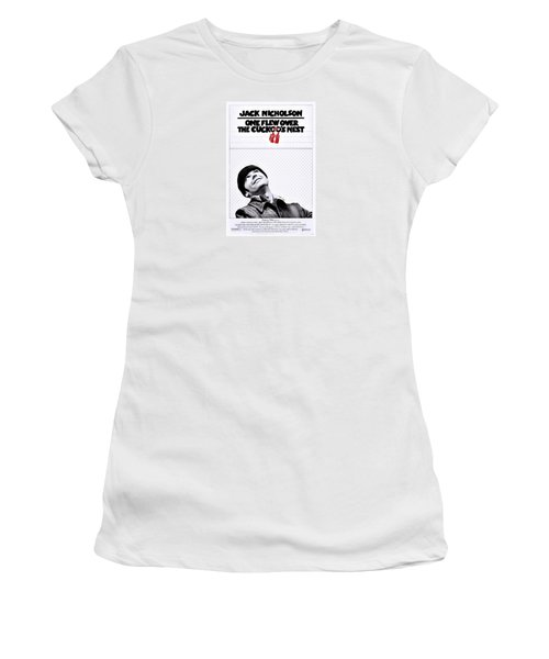 One Flew Over The Cuckoo's Nest Women's T-Shirt (Junior Cut) by Movie Poster Prints