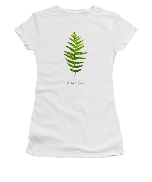 Ostrich Fern Women's T-Shirt (Junior Cut) by Color Color