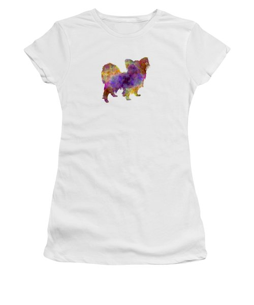 Papillon In Watercolor Women's T-Shirt (Junior Cut) by Pablo Romero