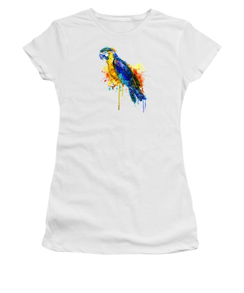 Parrot Watercolor  Women's T-Shirt (Junior Cut) by Marian Voicu