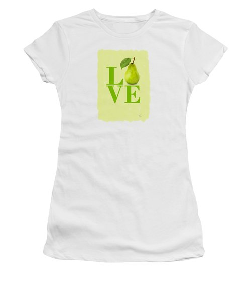 Pear Women's T-Shirt (Junior Cut) by Mark Rogan