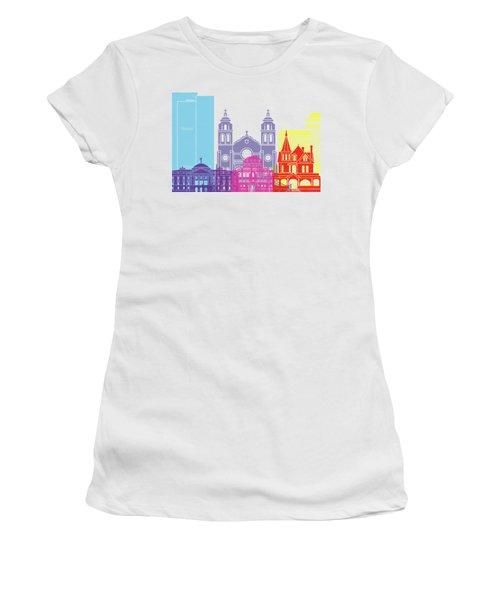 Phoenix Skyline Pop Women's T-Shirt (Junior Cut) by Pablo Romero
