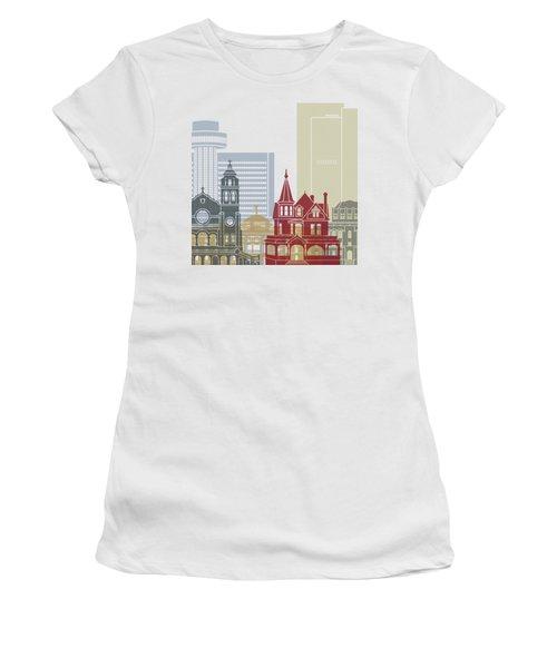Phoenix Skyline Poster Women's T-Shirt (Junior Cut) by Pablo Romero