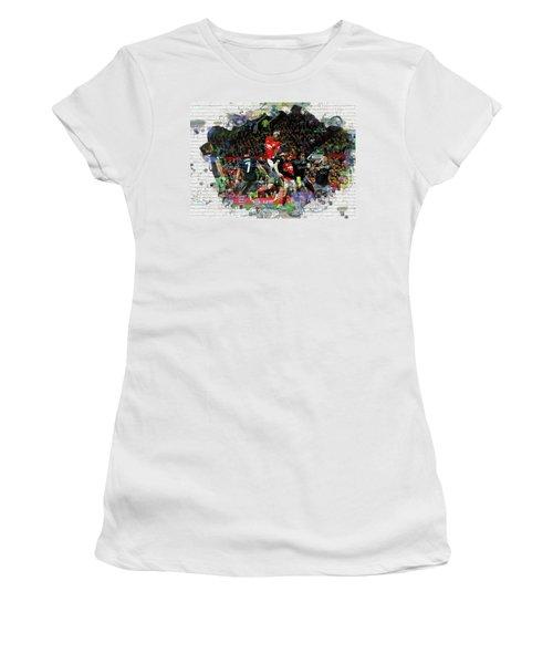 Pogba Street Art Women's T-Shirt (Junior Cut) by Don Kuing