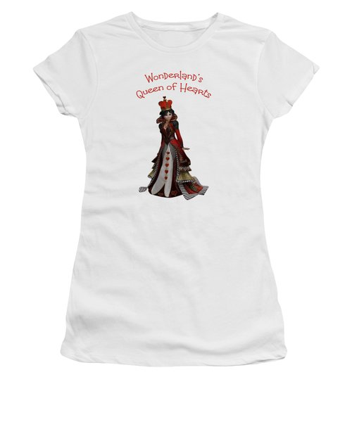 Queen Of Hearts Portrait Women's T-Shirt (Junior Cut) by Methune Hively