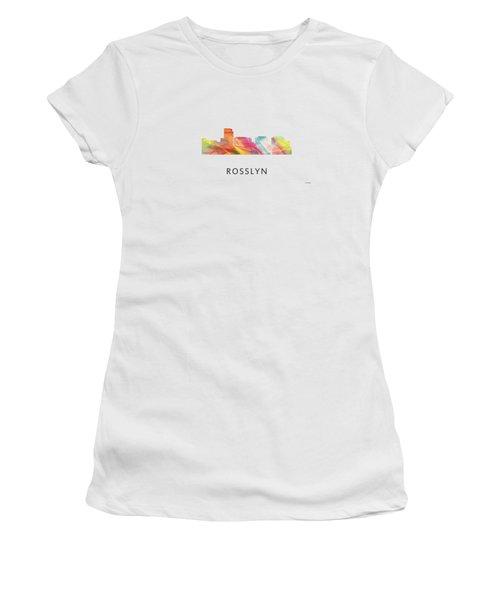 Rosslyn Virginia Skyline Women's T-Shirt (Junior Cut) by Marlene Watson