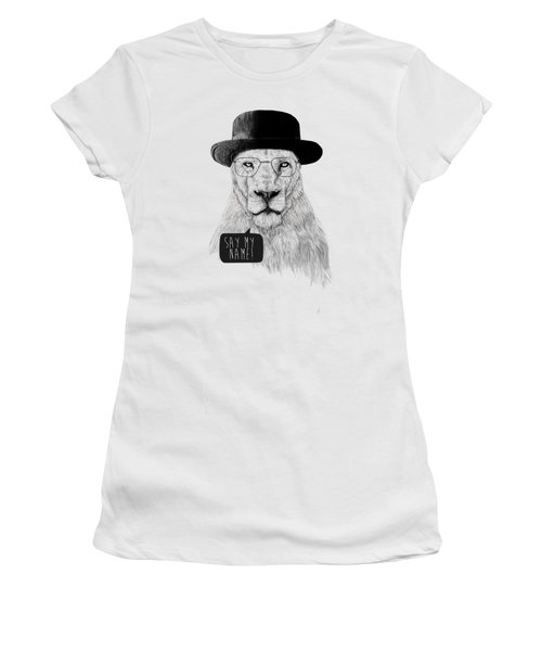 Say My Name Women's T-Shirt (Junior Cut) by Balazs Solti