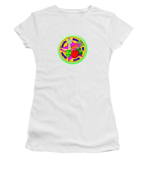 Smart Snacks Women's T-Shirt (Junior Cut) by Linda Lindall