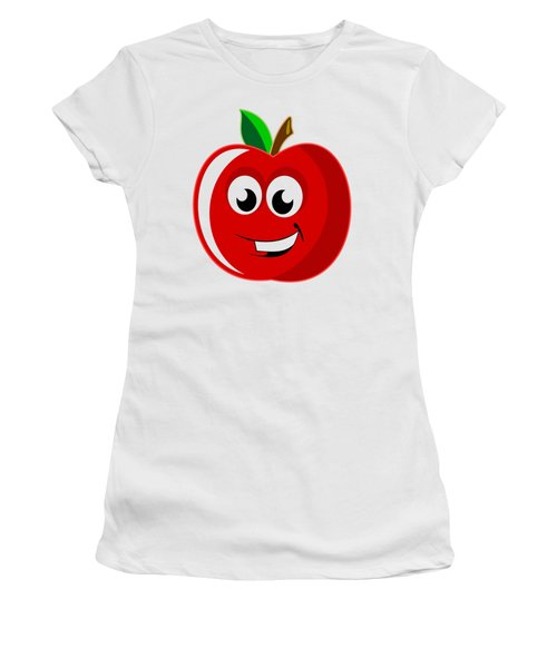Smiley Tomato With Changeable Background  Women's T-Shirt (Junior Cut) by Sebastien Coell