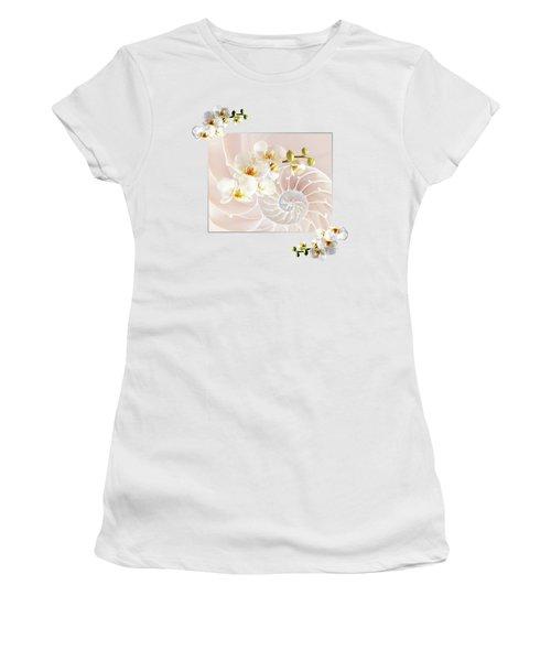 Soft Pink Fusion Women's T-Shirt (Junior Cut) by Gill Billington