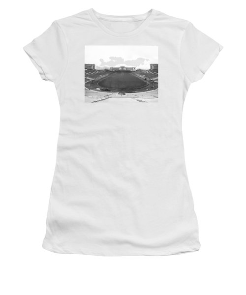 Soldier Field In Chicago Women's T-Shirt (Junior Cut) by Underwood Archives