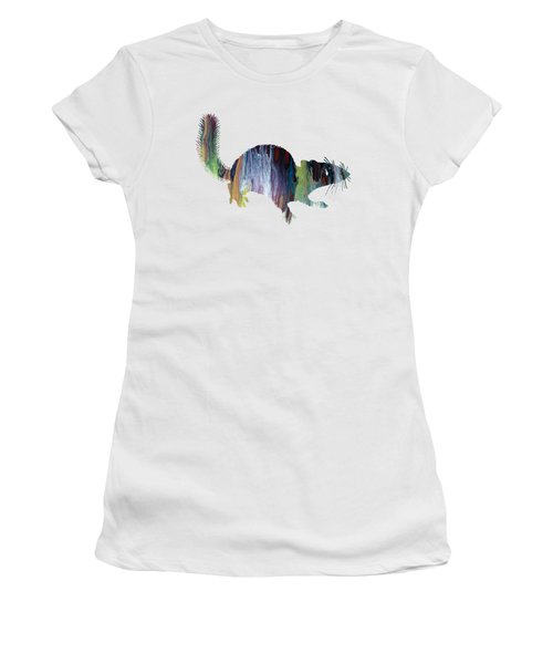 Squirrel Women's T-Shirt (Junior Cut) by Mordax Furittus