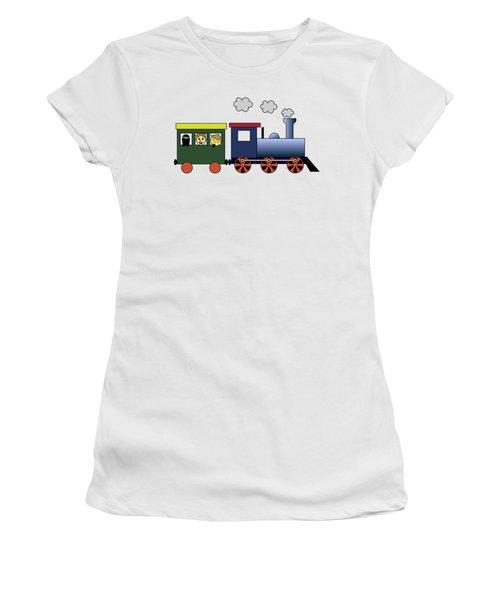 Steam Train Women's T-Shirt (Junior Cut) by Miroslav Nemecek