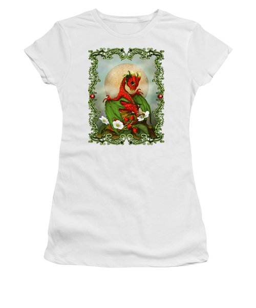 Strawberry Dragon T-shirt Women's T-Shirt (Junior Cut) by Stanley Morrison