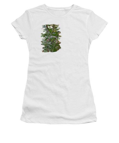 String Of Pearls Women's T-Shirt (Junior Cut) by Anita Faye