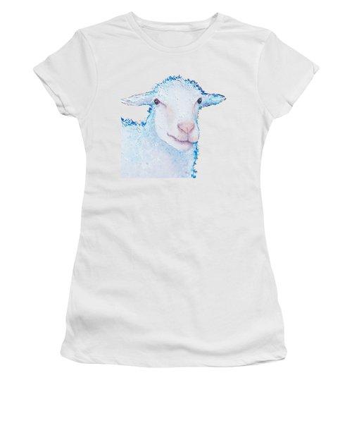 T-shirt With Sheep Design Women's T-Shirt (Junior Cut) by Jan Matson