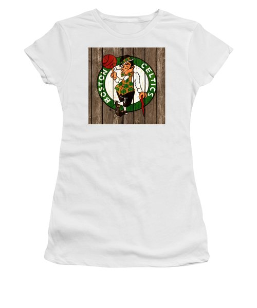 The Boston Celtics 2b Women's T-Shirt (Junior Cut) by Brian Reaves