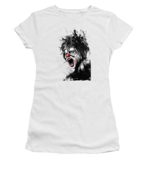 The Clown Women's T-Shirt (Junior Cut) by Balazs Solti