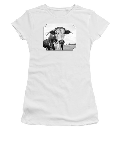This Is My Field - Black And White Women's T-Shirt (Junior Cut) by Gill Billington
