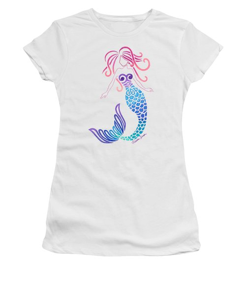 Tribal Mermaid Women's T-Shirt (Junior Cut) by Heather Schaefer